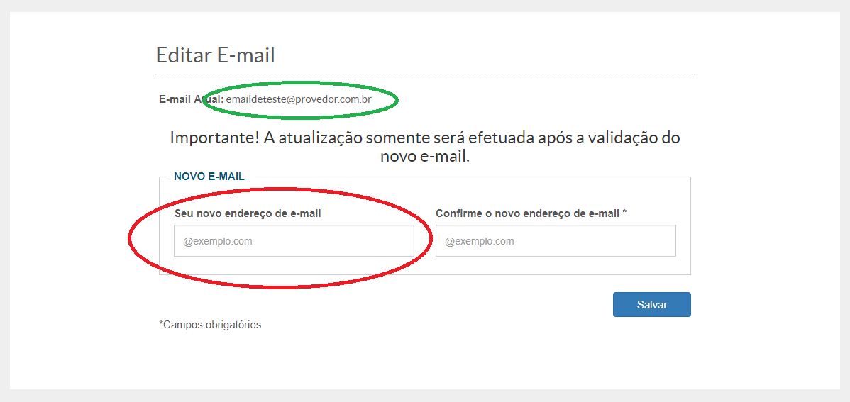 Trocar Email
